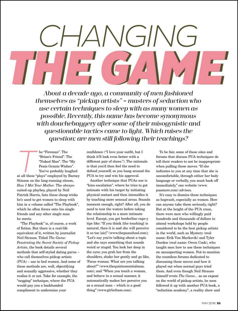 Legends Academy Cleo Magazine Page 2